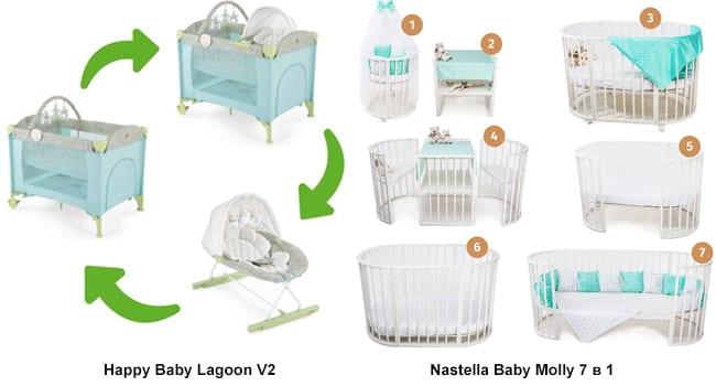 Модели трансформеры Nastella Baby и Happy Baby