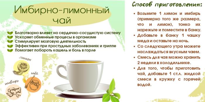 Имбирно-лимонный чай