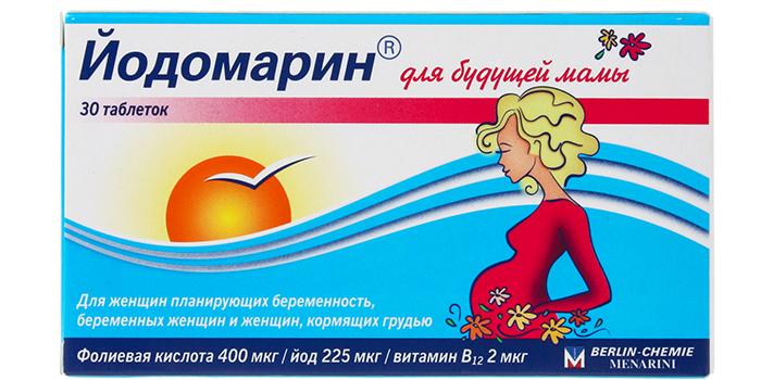 Таблетки Йодомарин для будущих мам