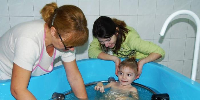 Женщина с ребенком в санатории
