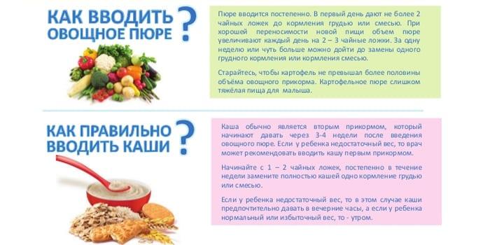Как давать овощное пюре и каши детям