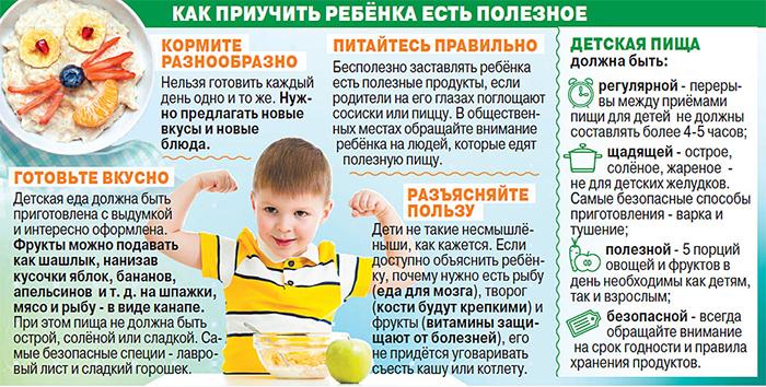 Как приучить ребенка есть полезное