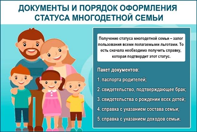 Получение статуса многодетной семьи