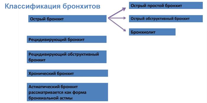 Классификация бронхитов у детей