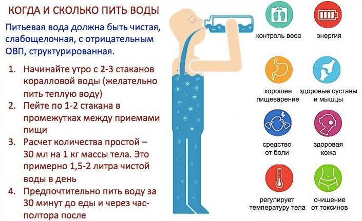 Когда и сколько пить воды