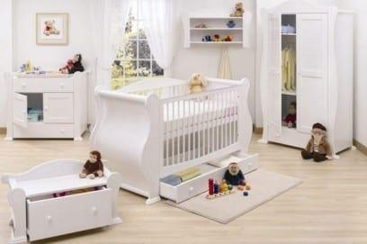 Комната для новорожденного мальчика и девочки