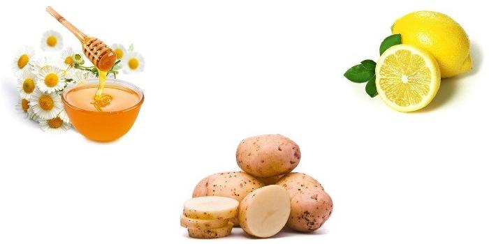 Лимон, мед и картофель