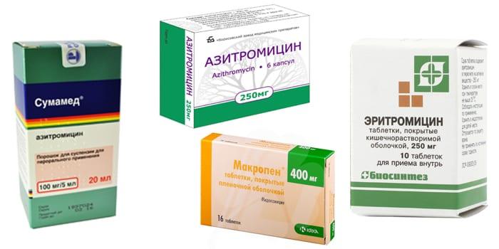 Препараты макролиды