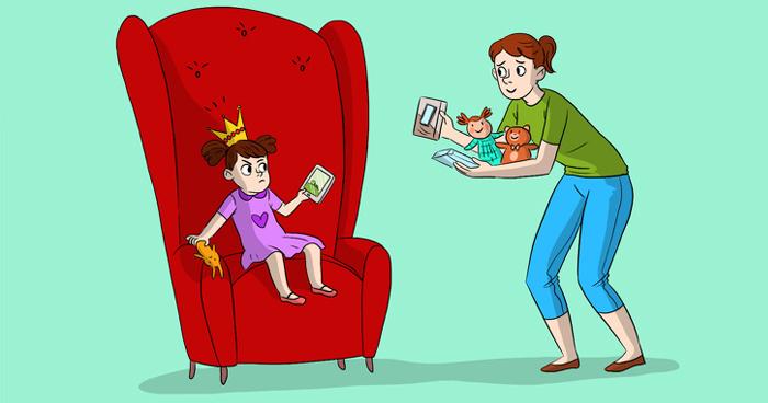 Мать балует дочь