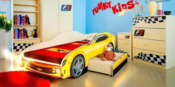Кровать-машина с выдвижным ящиком