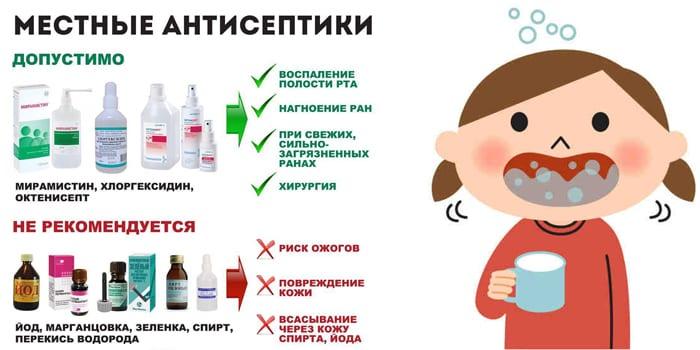 Местные антисептики для детей