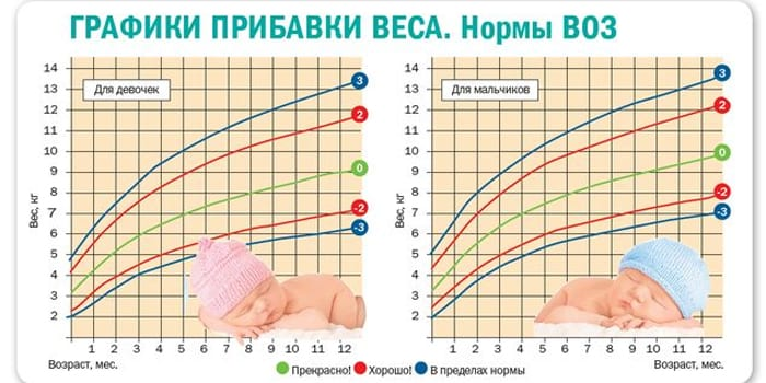 Нормы ВОЗ набора веса