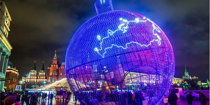 Новогодние огни Москвы