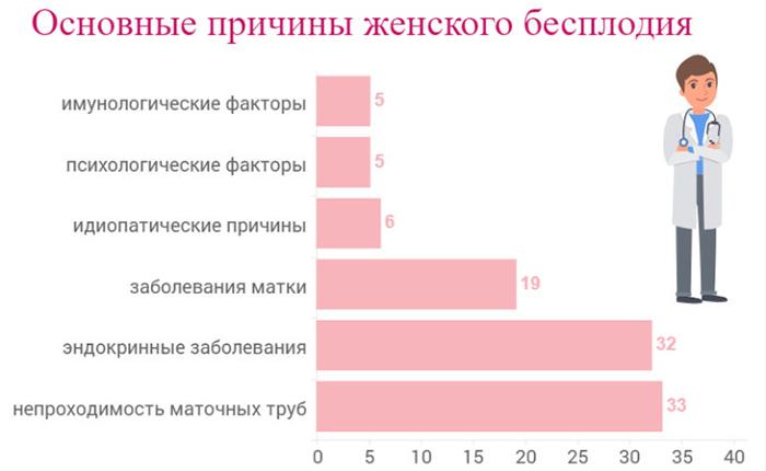 Основные причины в процентах