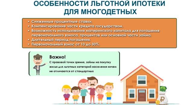 Особенности льготной ипотеки для многодетных