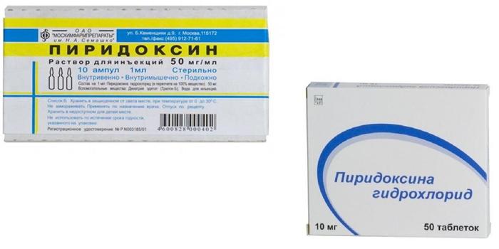 Пиридоксин в ампулах и таблетках