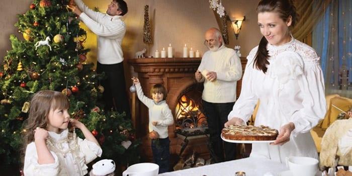 Празднование всей семьей