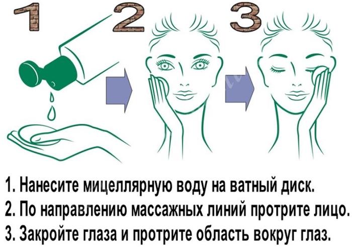 Применение мицеллярной воды