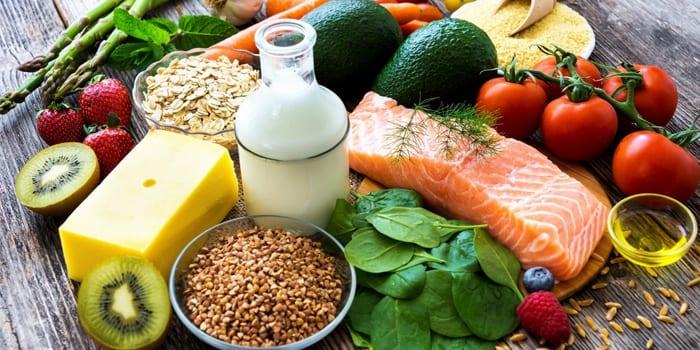 Богатые витаминами продукты
