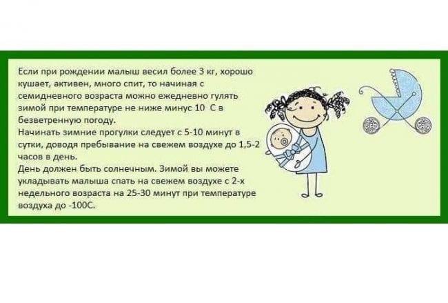 Правила зимней прогулки с ребенком
