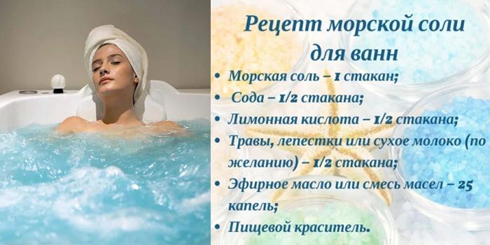 Рецепт морской соли для детокс-ванны
