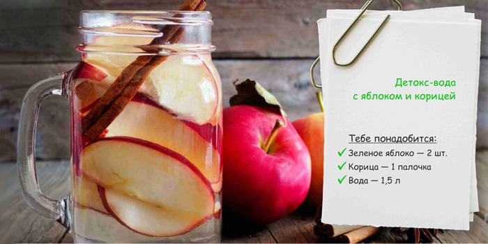 Рецепт с яблоком и корицей