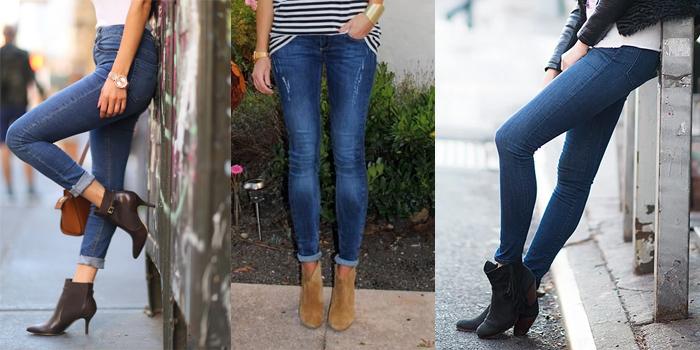 С джинсами скини