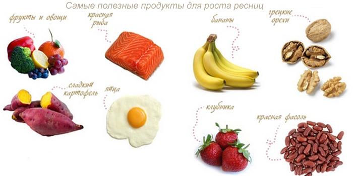 Самые полезные продукты для роста ресниц