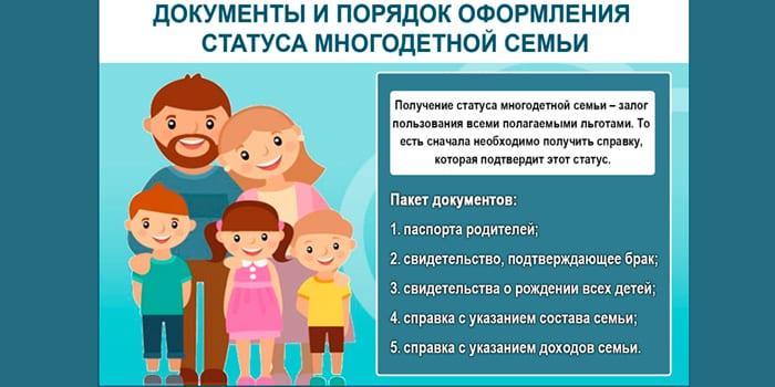 Оформление статуса многодетной семьи