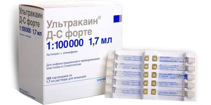 Препарат Ультракаин Форте