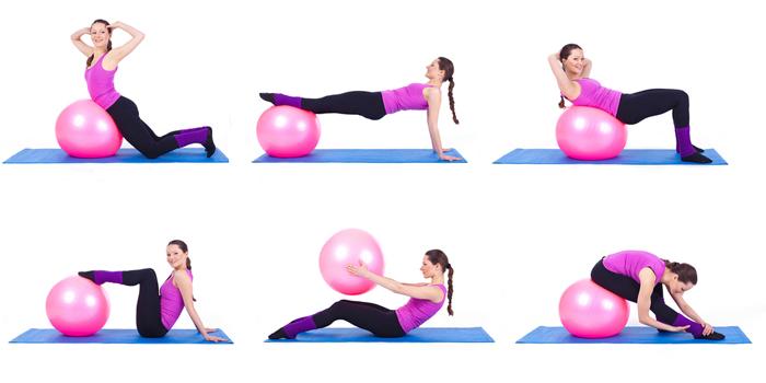 Упражнения с фитболом после родов