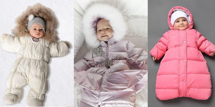 Виды детских зимних комбинезонов