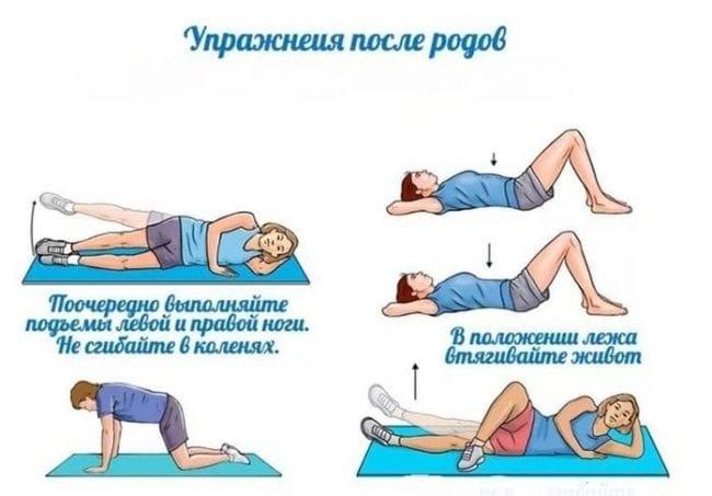 Упражнения для снижения веса после родов